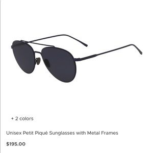 Unisex Petit Piqué Sunglasses with Metal Frames